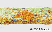 Political Panoramic Map of Weixi, physical outside