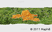 Political Panoramic Map of Weixi, satellite outside