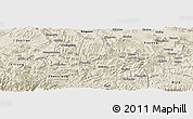 Shaded Relief Panoramic Map of Weixi