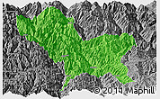 Political Panoramic Map of Weixin, desaturated