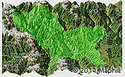 Political Panoramic Map of Weixin, satellite outside