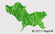 Political Panoramic Map of Weixin, single color outside