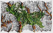 Satellite Panoramic Map of Weixin, physical outside