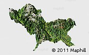 Satellite Panoramic Map of Weixin, single color outside