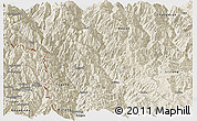 Shaded Relief Panoramic Map of Weixin