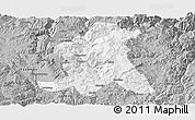 Gray Panoramic Map of Wuding