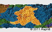 Political Panoramic Map of Wuding, darken