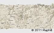 Shaded Relief Panoramic Map of Wuding