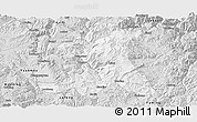 Silver Style Panoramic Map of Wuding