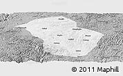 Gray Panoramic Map of Wuenshan