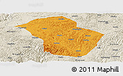 Political Panoramic Map of Wuenshan, shaded relief outside
