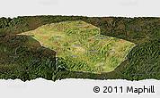 Satellite Panoramic Map of Wuenshan, darken