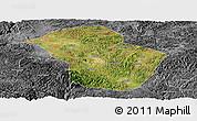 Satellite Panoramic Map of Wuenshan, desaturated