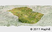Satellite Panoramic Map of Wuenshan, lighten