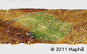 Satellite Panoramic Map of Wuenshan, physical outside
