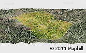Satellite Panoramic Map of Wuenshan, semi-desaturated