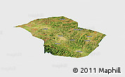 Satellite Panoramic Map of Wuenshan, single color outside
