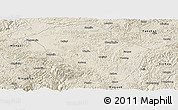 Shaded Relief Panoramic Map of Wuenshan