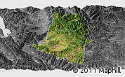 Satellite Panoramic Map of Xiangyun, desaturated