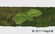 Satellite Panoramic Map of Xichou, darken