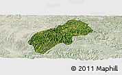 Satellite Panoramic Map of Xichou, lighten