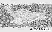 Gray Panoramic Map of Xinping