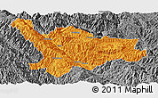 Political Panoramic Map of Xinping, desaturated