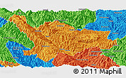 Political Panoramic Map of Xinping