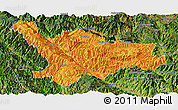 Political Panoramic Map of Xinping, satellite outside
