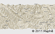 Shaded Relief Panoramic Map of Xinping