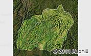 Satellite Map of Xuanwei, darken