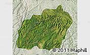 Satellite Map of Xuanwei, lighten