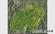 Satellite Map of Xuanwei, semi-desaturated