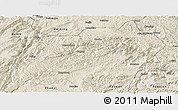Shaded Relief Panoramic Map of Xuanwei