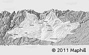 Gray Panoramic Map of Xundian