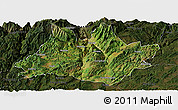 Satellite Panoramic Map of Xundian, darken