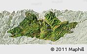 Satellite Panoramic Map of Xundian, lighten