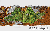 Satellite Panoramic Map of Xundian, physical outside