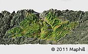 Satellite Panoramic Map of Xundian, semi-desaturated