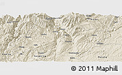 Shaded Relief Panoramic Map of Xundian