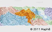 Political Panoramic Map of Yangbi, lighten