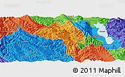 Political Panoramic Map of Yangbi