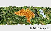 Political Panoramic Map of Yangbi, satellite outside