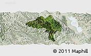 Satellite Panoramic Map of Yangbi, lighten