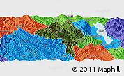 Satellite Panoramic Map of Yangbi, political outside