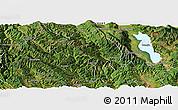 Satellite Panoramic Map of Yangbi