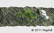 Satellite Panoramic Map of Yangbi, semi-desaturated
