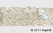 Shaded Relief Panoramic Map of Yangbi