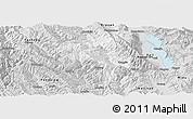 Silver Style Panoramic Map of Yangbi