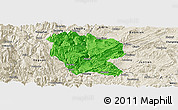 Political Panoramic Map of Yanjin, shaded relief outside